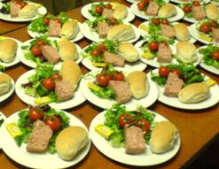 wedding catering starter course soups